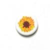 Bead Discs 19mm Sun Flower Orange/Yellow/Brown